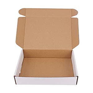 35 Pack 9×6.5×1.75 inch Corrugated Box Mailers- White Cardboard Shipping Box Corrugated Box Mailer Shipping Box For…
