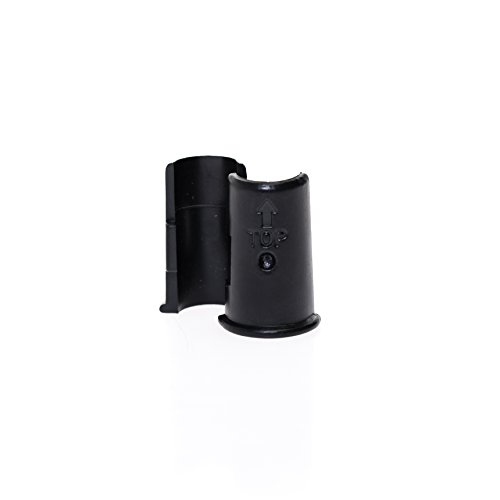 "Telta Homewares Wire Shelving Shelf Lock Clips for 0.5""Inch (1/2""&12.7mm) Diameter Post Size Shelving Sleeves,Plastic,Black 12 Pairs (24)"