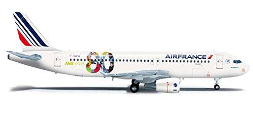 (HE556255 Herpa Wings Air France A320 1:200 80TH Anniversary REG#F-HEPG Model Airplane)