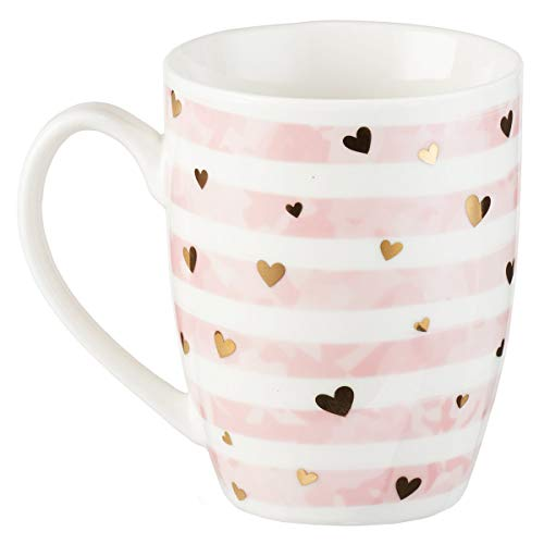 (Mug - Do All Things In Love, Pink Stripe, 12 Ounce)