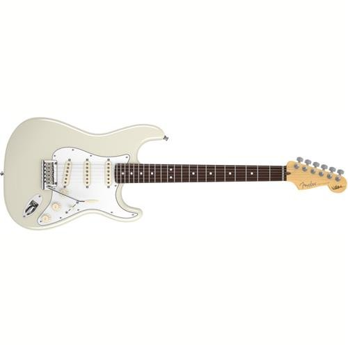 Fender Jeff Beck Stratocaster Electric Guitar, Rosewood Fingerboard - Olympic White (Fender Vintage Noiseless Strat Pickup Set Review)
