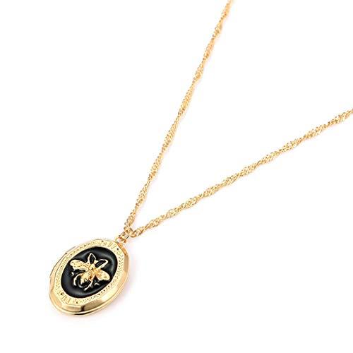 Fashion Jewelry Bee Pendant Necklace Pocket Watch Necklace for Women Girls Necklace Jewelry Crafting Key Chain Bracelet Pendants Accessories Best