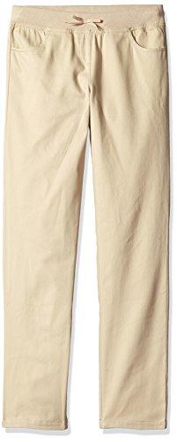 Dockers Capri Pants (Dockers Little Girls' Uniform Skinny Pant with Rib Waistband, Khaki, 6X)
