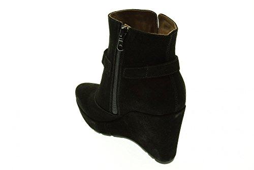 NEGRO JARDINES botas de mujer de tobillo con A513661DE cuña / 100 Nero