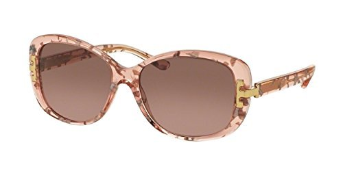 Brown Rose Gradient 56mm Tory Burch Womens TY7090 Sunglasses Pink Tweed