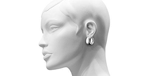 Clio Blue Boucles d'oreilles créoles Les intemporels en argent 925, 6.5g, Ø25mm