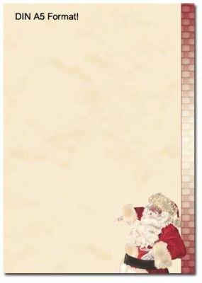 Carta da lettera decorati BABBO NATALE 50 fogli formato DIN A5 Paper-Media