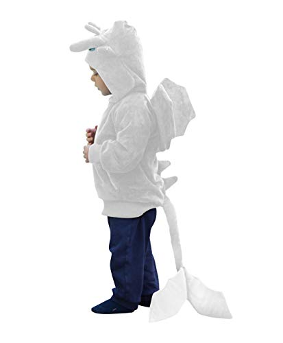 (ComfyCamper Dragon Costume Animal Play Sweatshirt Hoodie Boys / Girls (Adult X-Small,)