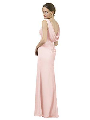 Dresses Maxi Formal Bridesmaid Evening Mermaid Dress Alicepub Pink Prom Elegant Pearl Gown HwgZqAZ