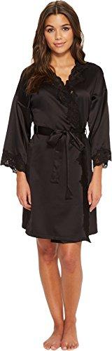 Lauren by Ralph Lauren Women's Satin Wrap Robe Black (Satin Wrap Robe)