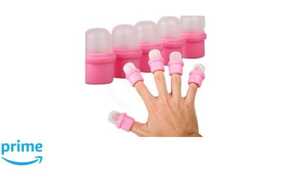 NAILDesign - Dedales para quitar esmalte de uñas semipermanente (10 unidades): Amazon.es: Salud y cuidado personal