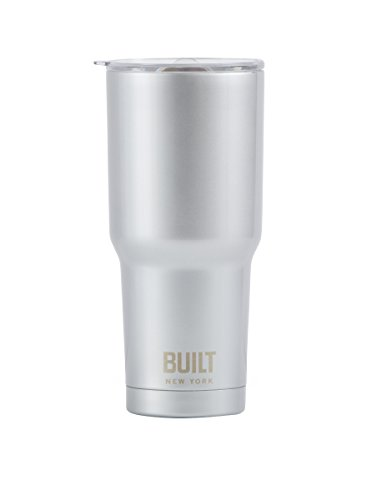 Built NY Double Wall Stainless Steel Vacuum Insulated Tumbler, 30-Ounce, Silver