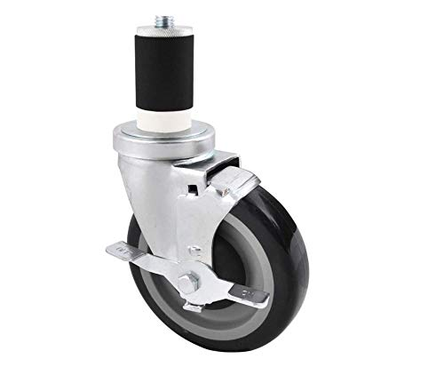 BK recursos equipo Kit de ruedas para mesas de trabajo, set de 4, 5