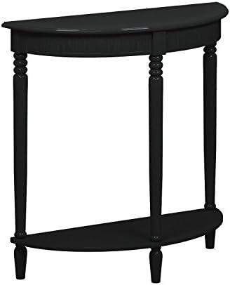 Oriental Furniture 31 Half Round Console Table – Black