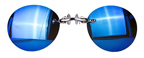 lunettes miroir nez pince argenté bleu RfrxaRqwU