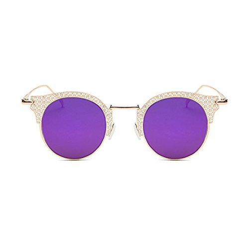 Aoligei Europe et lady rétro de l'United States Classic mode homme lunettes de soleil couple classique de la grande boîte en métal nZOtJzW