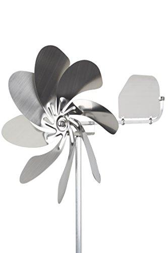 A1005 - steel4you Windrad Windmühle Speedy28 plus aus Edelstahl (28cm Rotor-Durchmesser), kugelgelagert, mit Windfahne (360° Grad drehbar) - made in Germany