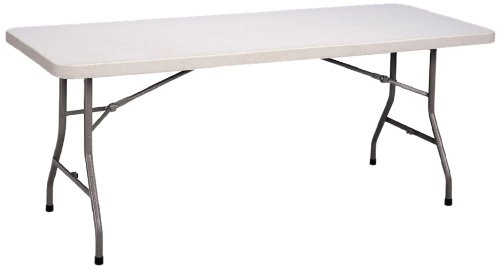 Correll CP3072 Light Weight Economy Blow-Molded Plastic Folding Table, 30×72 , Gray Granite
