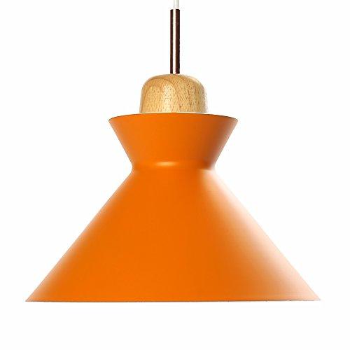 Industrial Edison Mini Metal Pendant Hanging Lamp Modern Art Deco Lighting Fixture Loft Pendant Light (Orange) ()