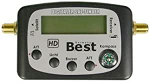 SAT-Finder Best HQSF 101 LCD de alta calidad HQSF101 localizador de señal satélite, Set de limpieza para espadas. Brújula nuevo