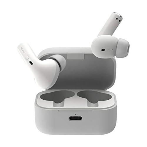 chollos oferta descuentos barato Nokia Essential True Wireless Auriculares y Estuche portátil de Carga IPX5 de Resistencia al Agua reducción del Ruido micrófono Dual y Modo Ambiente Blanco