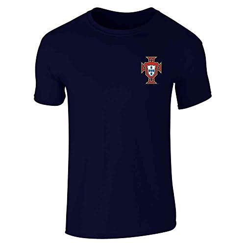 Portugal Soccer Retro National Team Football Navy Blue XL Short Sleeve T-Shirt