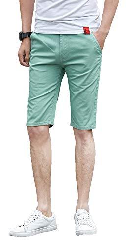 Plaid&Plain Men's Flat Front Slim Fit Shorts Men's 11