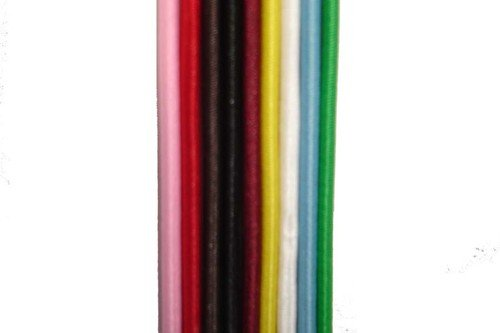 SHOCK ELASTIC CORD - BUNGEE ELASTIC CORD - ROUND ELASTIC CORD - 3MM THICKNESS - 5 METRE LENGTH - FOR CAMPING / SAILING / CLOTHING - AVAILABLE IN NAVY, RED, CREAM, MAROON, GREY, SKY BLUE, BROWN, BEIGE AND PINK BEIGE AND PINK (MAROON) MARKETPLACE MAYHEM