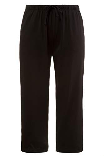 (Ulla Popken Women's Plus Size Slim Leg Cropped Capri Pants Black 28/30 709771 10)