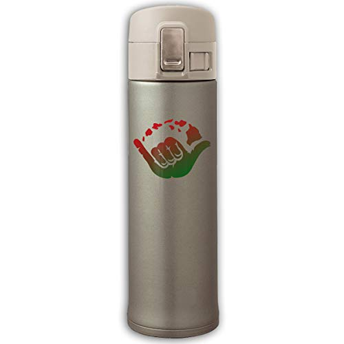 Aloha Hand Hawaii Symbol-1 Stainless Steel Vacuum-Insulated Mug - BPA Free - Thermos Cup With Bounce ()