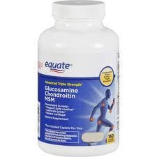 Equate Triple Strength Glucosamine Chondroitin MSM 160 ea. Coated Tablets - Glucosamine Chondroitin 160 Tabs