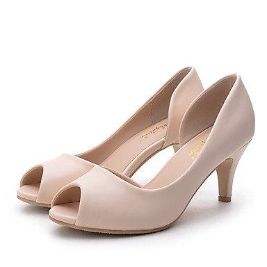 Confort Plat Femme LvYuan Blanc Amande Talon almond Chaussures Noir Eté ggx Plat Décontracté Confort Printemps Talons à Polyuréthane UU7wqv