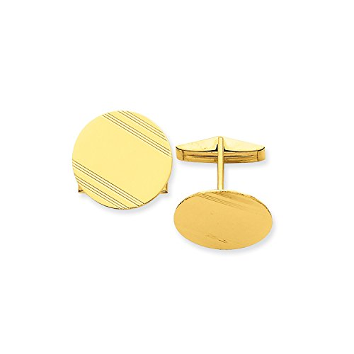 Roy Rose Jewelry 14K Yellow Gold Cuff (Rose Gold Yellow Cufflinks)