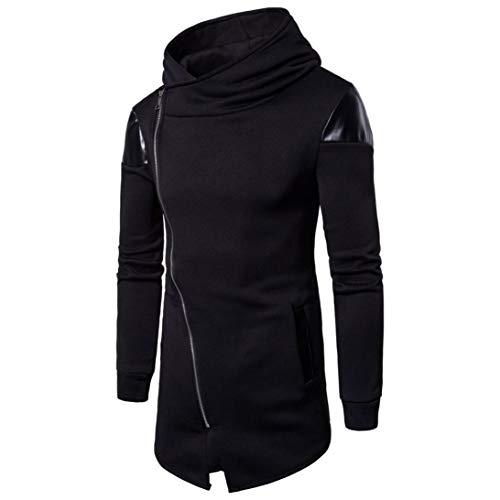 Men's Hoodies, FORUU Long Sleeve Patchwork Hooded Sweatshirt Top Tee Outwear Blouse ()