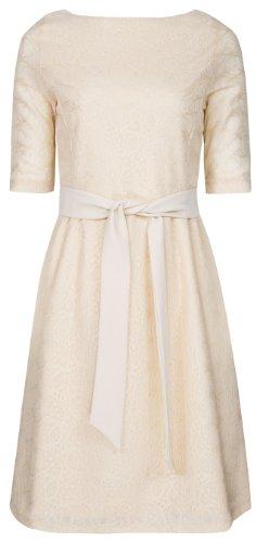 Kleid mit spitze dreiviertelarm
