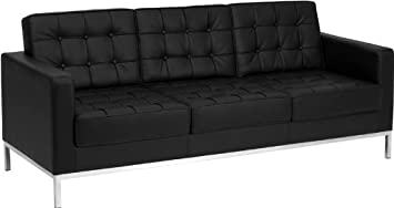 Modern Black Leather Couches