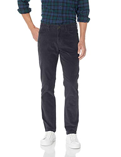 - Goodthreads Men's Slim-Fit 5 Pocket Corduroy Pant, Grey, 32W x 30L