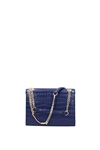 versace jeans borsa a spalla blu cocco