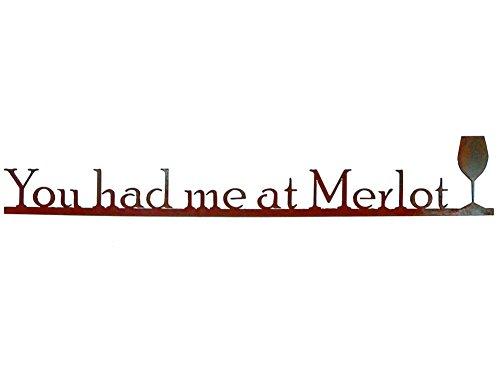 You Had Me at Merlot – Rustic Metal Wall Sign Sculpture, 29″ Review