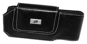 Cellular Innovations CI-BBPEARLH-BK Leather Horizontal Pouch for Blackberry Pearl ()