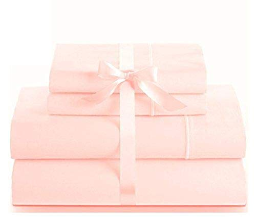 - Linenwalas 100% Natural Cotton Bed Sheets - 1000 Thread Count Deep Pocket 4 Piece Sheets | Silk Like Soft, Hypoallergenic, Breathable & Cooling Sateen Bedsheets Deal | Hotel Sheets (Queen, Blush)