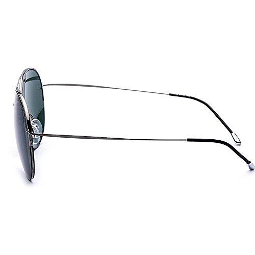 Retro Unisex Classic Metal Gafas Green Sol Color Glasses Frame polarizadas Sun Round Blue de Yxsd IHqzxgwTg