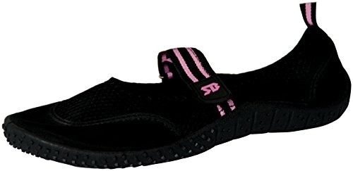 Starbay Women's Mary Janes Athletic Mesh Aqua Flats Water Shoes Black 7