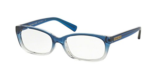 Michael Kors MITZI V MK8020 Eyeglass Frames 3122-53 - Blue Clear - Clear Michael Frame Kors Glasses