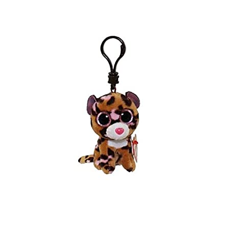 Carletto Ty 35008 - Parches de Clip, el Leopardo con el Brillo de los Ojos Glubschis, Beanie Boos, 8,5 cm