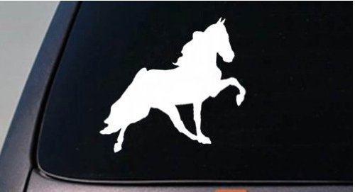 WALKING HORSE STICKER TENNESSEE WALKER SADDLE HORSE SHOW TRAILER ENGLISH STIRRUP 6