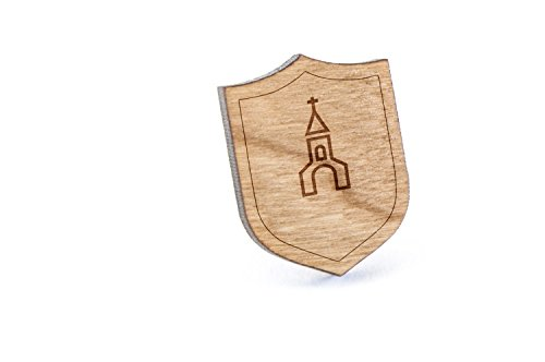 Church Lapel Pin, Wooden Pin by Wooden Accessories Company