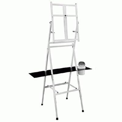 Bob Ross 2-in-1 Studio Easel - As Seen on Netflix Metal Easel Four Legged Tabletop Easel - White