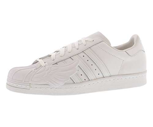 Adidas Men's Original Superstar Jeremy Scott JS Wings White Athletic Shoes B26282 - Size 10