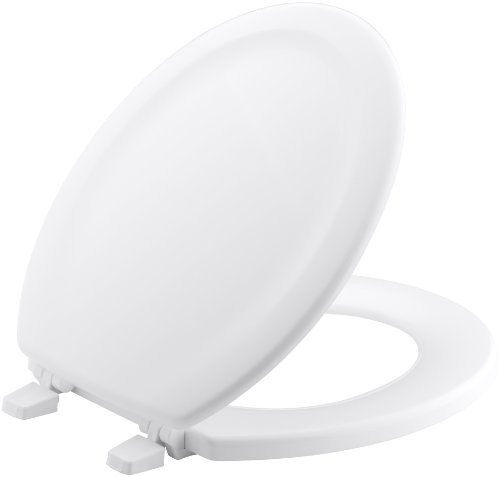 - KOHLER K-4816-0 Stonewood with Quick-Release Hinges Round-front Toilet Seat in White